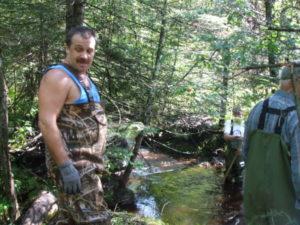 Beaver dam removal.