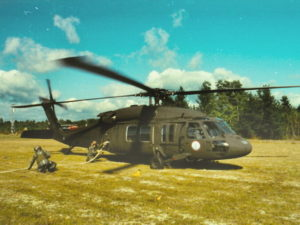 Fueling the Blackhawk helicopter